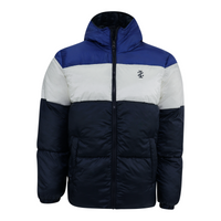 Deals on IZOD Mens Cuffed Colorblock Puffer Jacket
