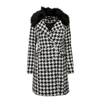 Deals on Jessica Simpson Women's Houndstooth Peacoat