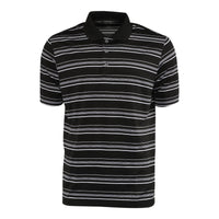 Adidas Men's Puremotion Textured Stripe Polo (Black/White)