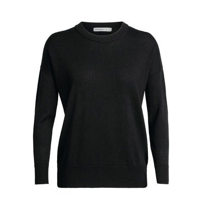 Icebreaker Women's Shearer Crewe Sweater Black S