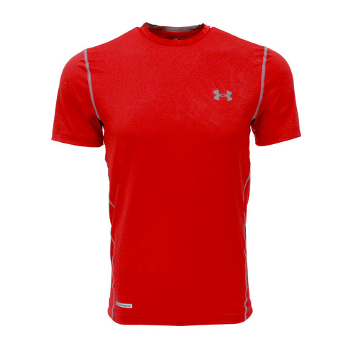 Red/Steel Under Armour Men's T-Shirt