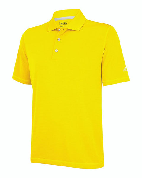 Yellow adidas Men's Polo Shirt adidas Men's ClimaLite Solid Polo Shirt at Proozy.com