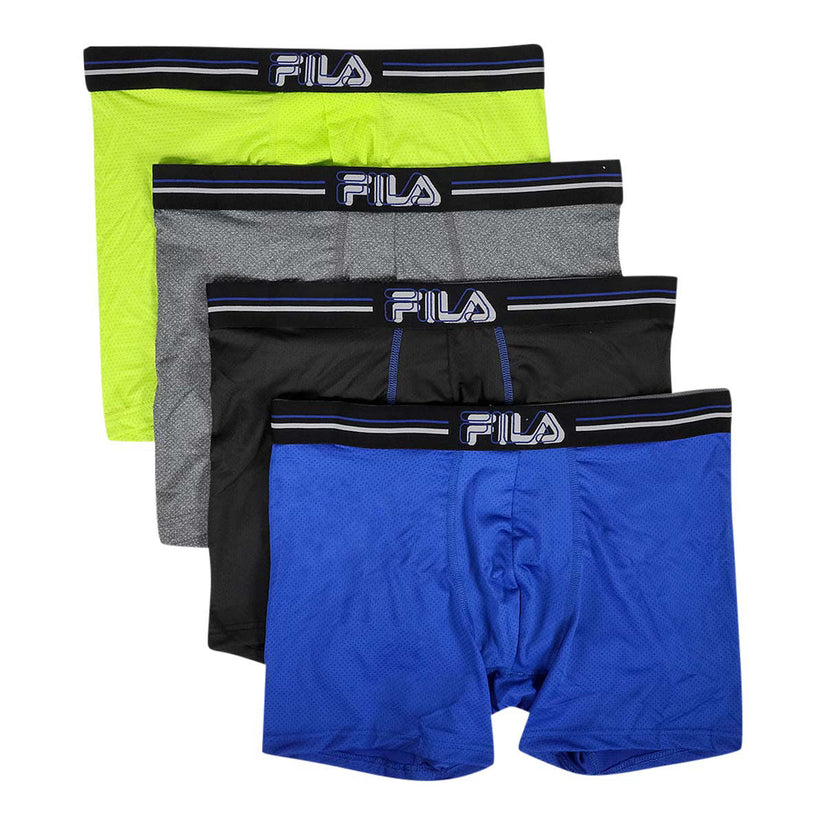 Fila Men's 4 Pack Poly-Mesh Boxer Briefs No Fly! .99 with free shipping at Proozy: BOMB611-999