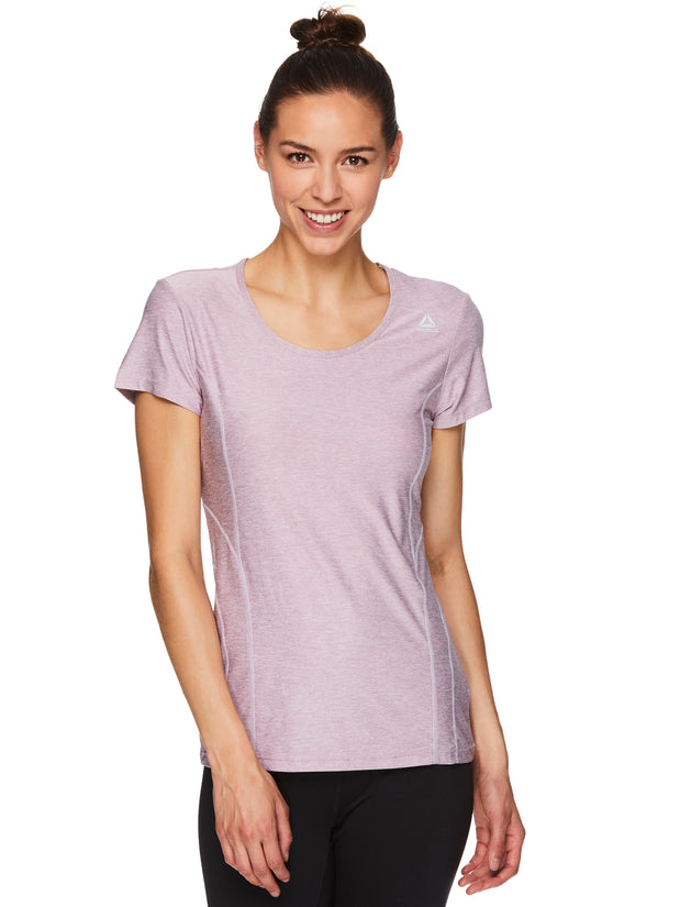 Reebok Women's Fitted Performance Light Weight Reversed Marled Jersey T-Shirt! .99 + free shipping at Proozy with code: BOMB813-799-FS