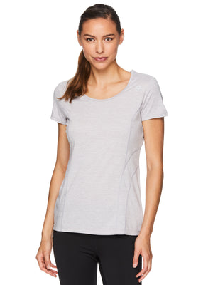 Reebok Women's Fitted Performance Poly Marled T-Shirt