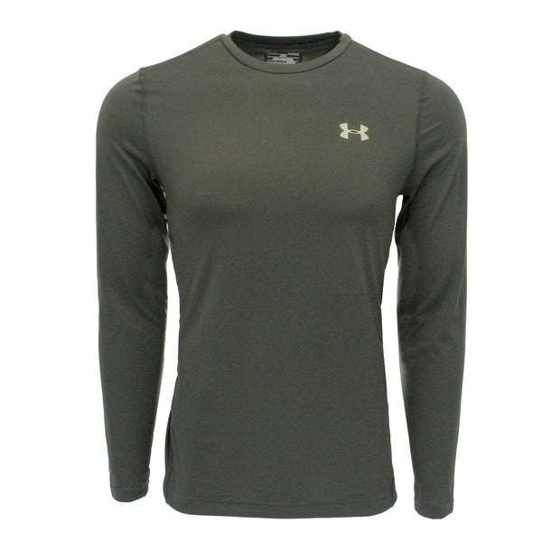 Moss Green/Tan Under Armour Men's Shirt Under Armour Men's Performance L/S Loose Fit Tech Tee at Proozy.com