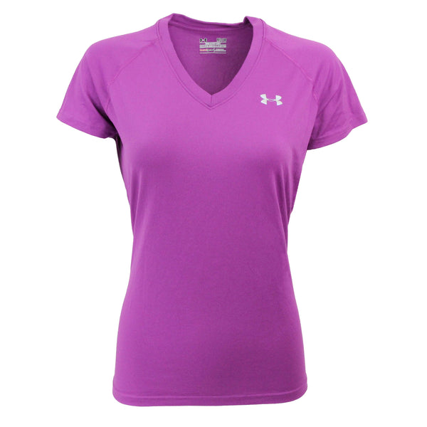 Concord Purple/Steel Under Armour Women's T-Shirt Under Armour Women's UA Tech V-Neck T-Shirt at Proozy.com