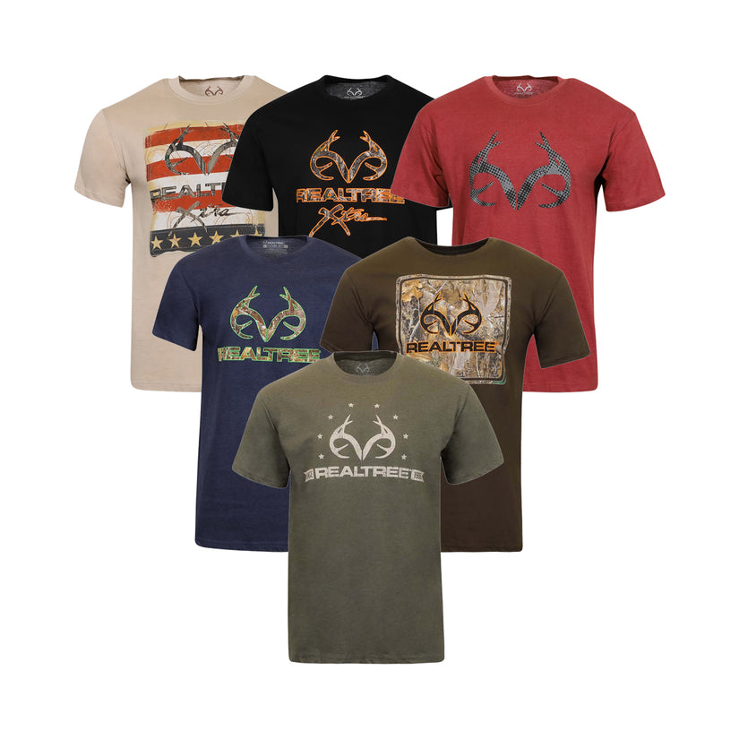 5-Pack Realtree Men's Graphic T-Shirt