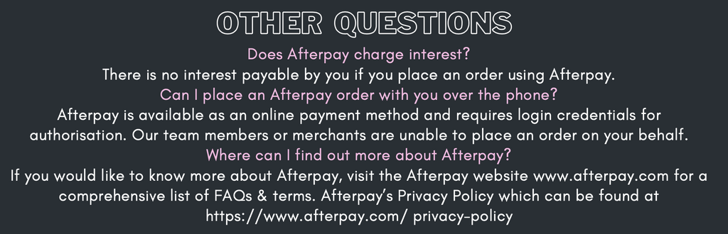 Frequently asked questions about Afterpay Question 3