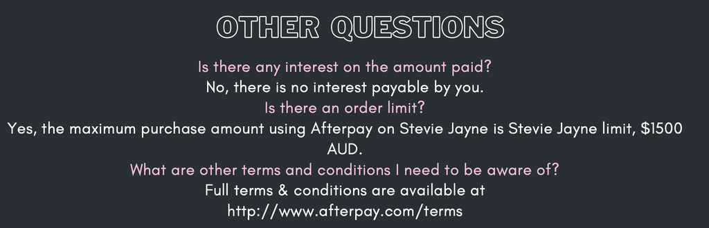 Frequently asked questions Afterpay 1
