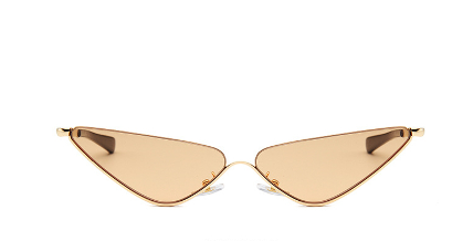 Champagne Breakfast Sun Glasses. This is the front display angle. Up your vacay style.