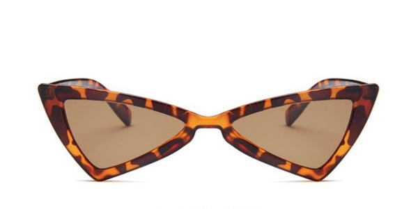 The Lioness Sun Glasses. This is the front display angle. These Sunnies are darker in appearance but in the light reveal the great leopard prints.