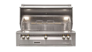 "Alfresco ALXE 42"" Built-In Grill with Three U Burners"