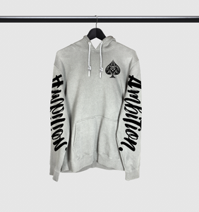 Ambition Arm Script Drawstring Hoodie