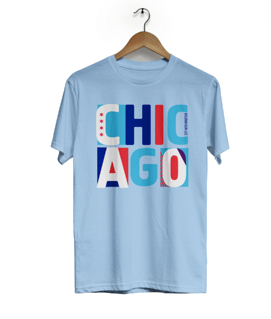 Chicago Stacked Ambition Cotton Tee