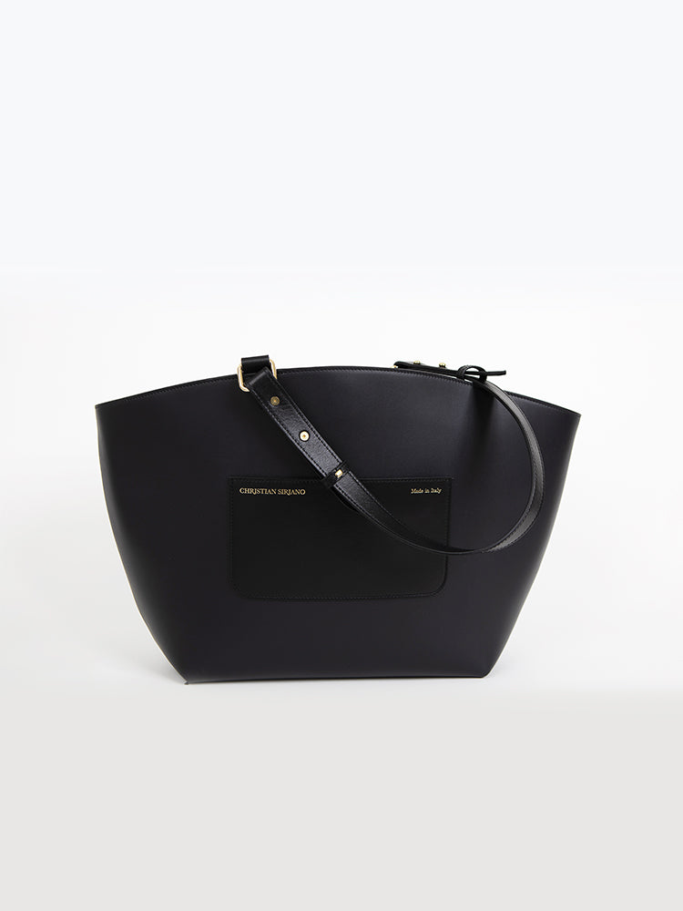 Large Top Handle Tote - Navy/Black