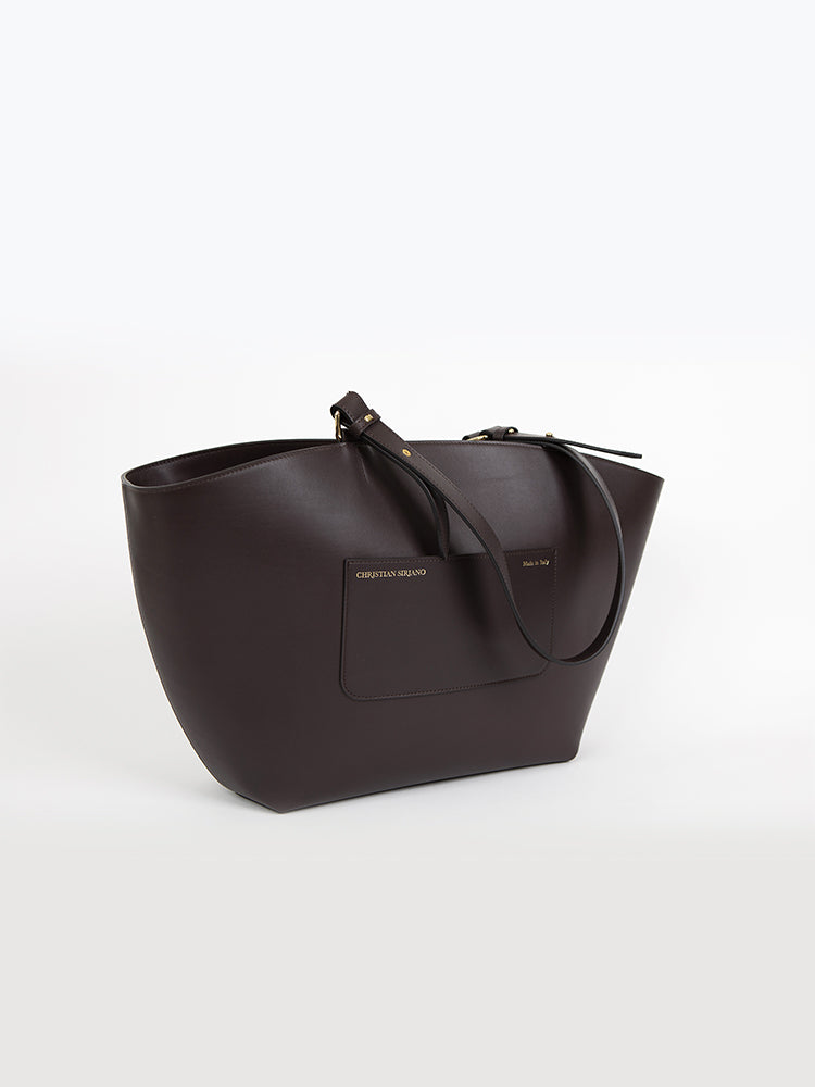 Large Top Handle Tote - Tobacco