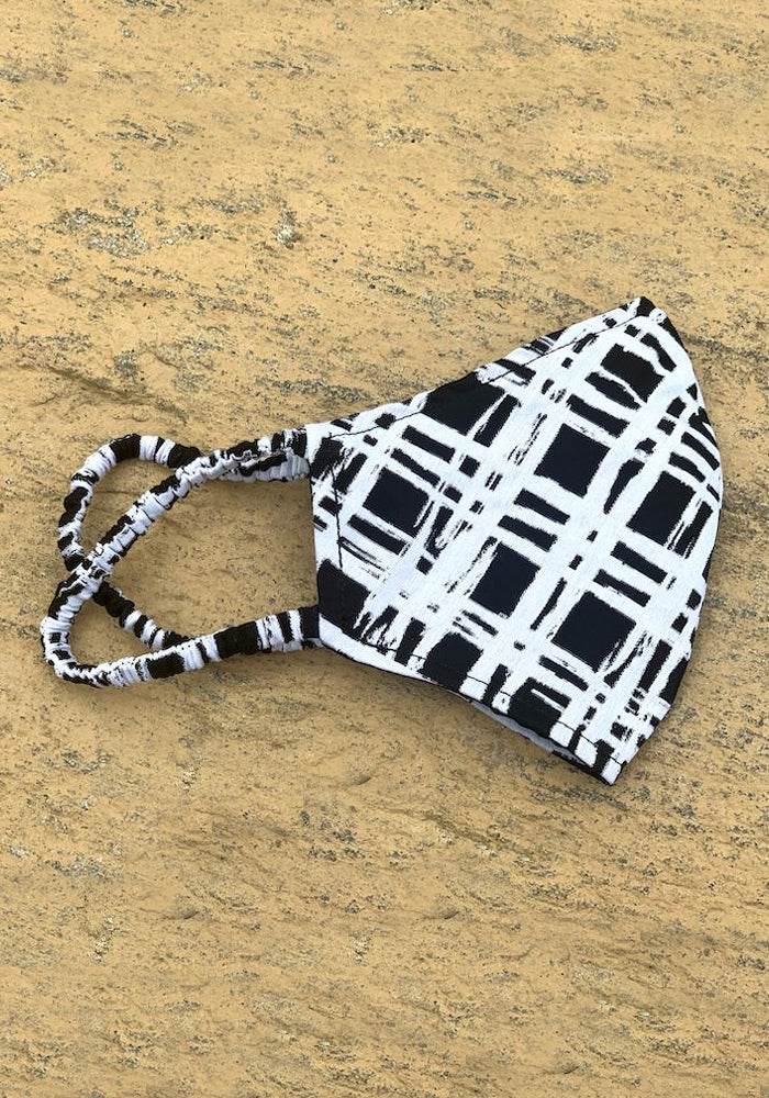 Collection 37 Limited Edition Masks from the Runway - Black & White Gingham