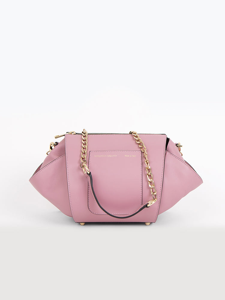 Small Oval Chain Strap Bag - Blush Pink