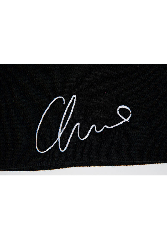 Signature Embroidered Beanie - Black