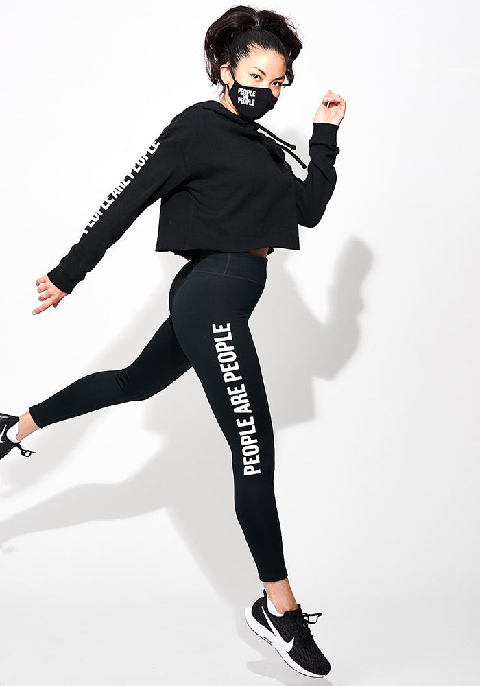 """People are People"" Sleeve Cropped Hoodie"