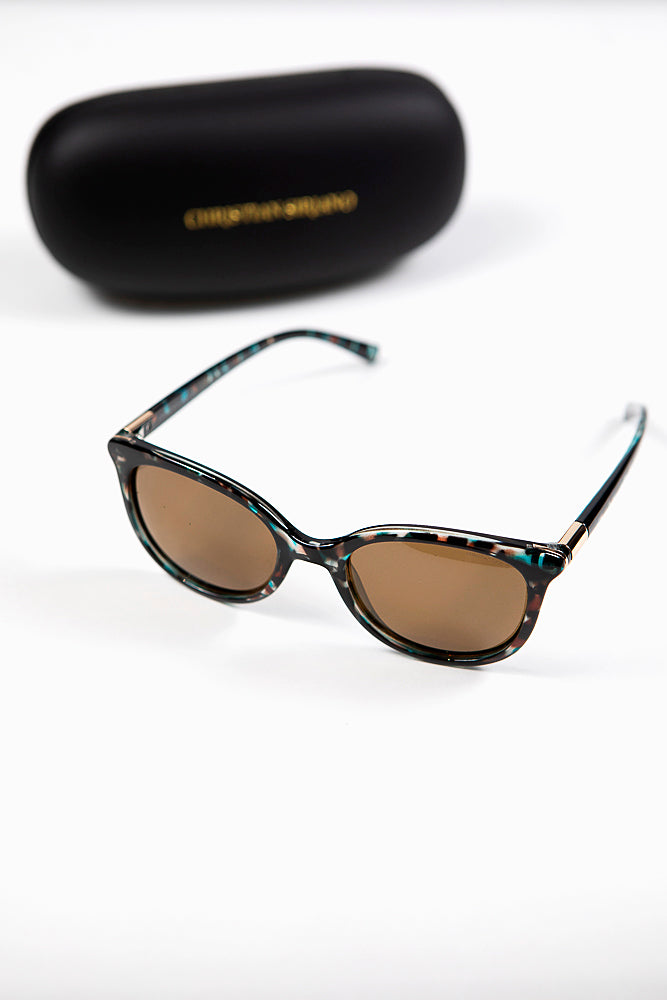 Teal Marble Sunglasses