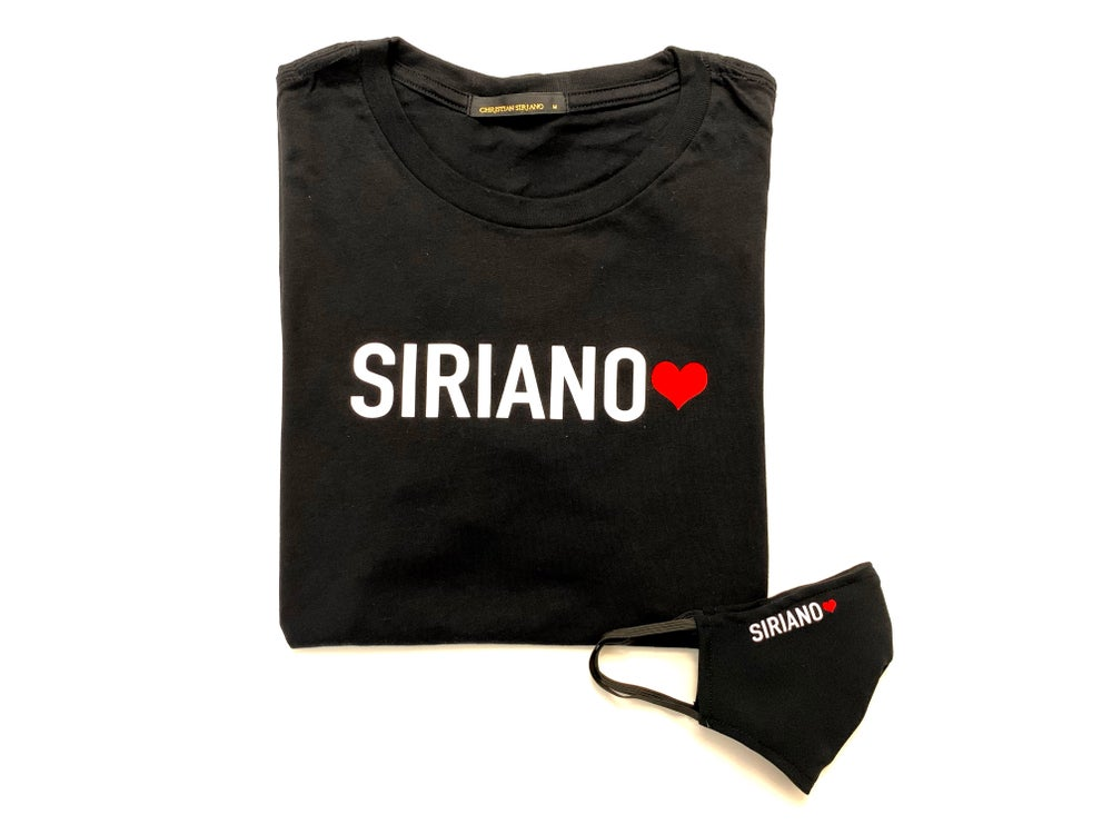 "Limited Edition  ""SIRIANO Red Heart"" T-Shirt/Mask Combo"