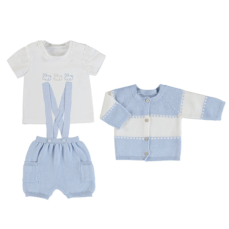 MAYORAL NEWBORN 1202 SKY PANTS AND JACKET SET