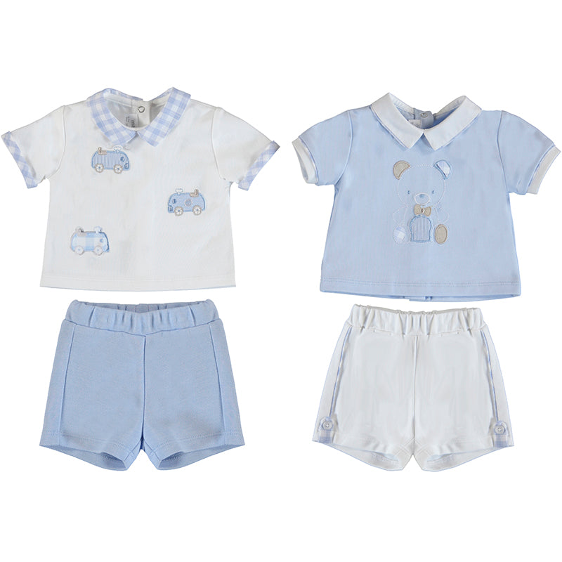 MAYORAL NEWBORN 1642 SKY 4 PIECE KNIT SET