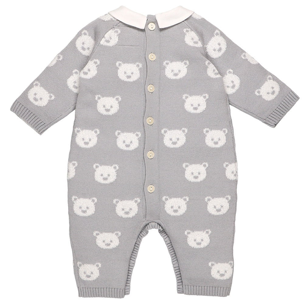 Emile et Rose Rico Grey Teddy Bear All in One & Hat Set
