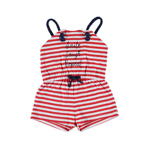 MAYORAL 3824 GIRLS Short striped jumpsuit POPPY