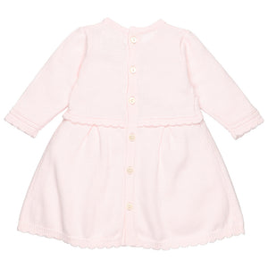 Emile et Rose 8380 Rhiana Pretty Knit Dress & Hat Pink