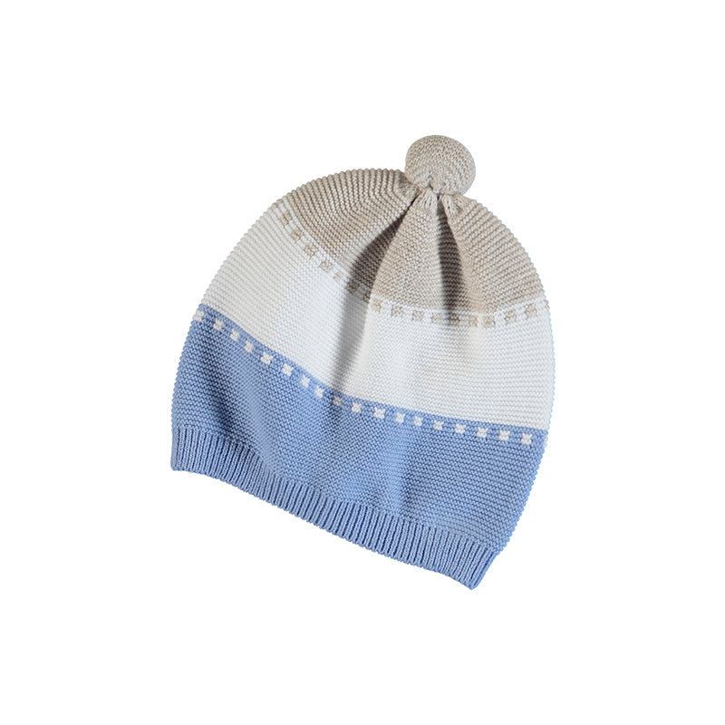 MAYORAL NEWBORN 9371 LIGHT BLUE HAT