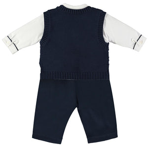 Emile et Rose Layton Navy Boys Smart Three Piece Outfit