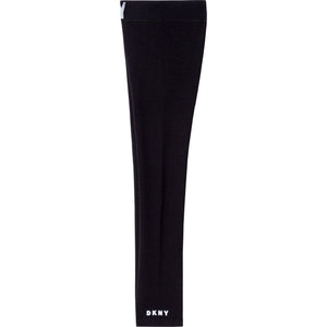 DKNY D34A09 GIRLS  BLACK LEGGINGS