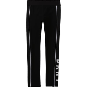 DKNY D34A11 GIRLS  BLACK LEGGINGS