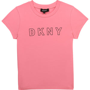 DKNY D35R23 GIRLS  APRICOT T-SHIRT