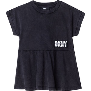 DKNY D35R25 GIRLS BLACK T-SHIRT