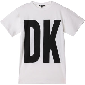 DKNY D35R32 GIRLS  WHITE T-SHIRT