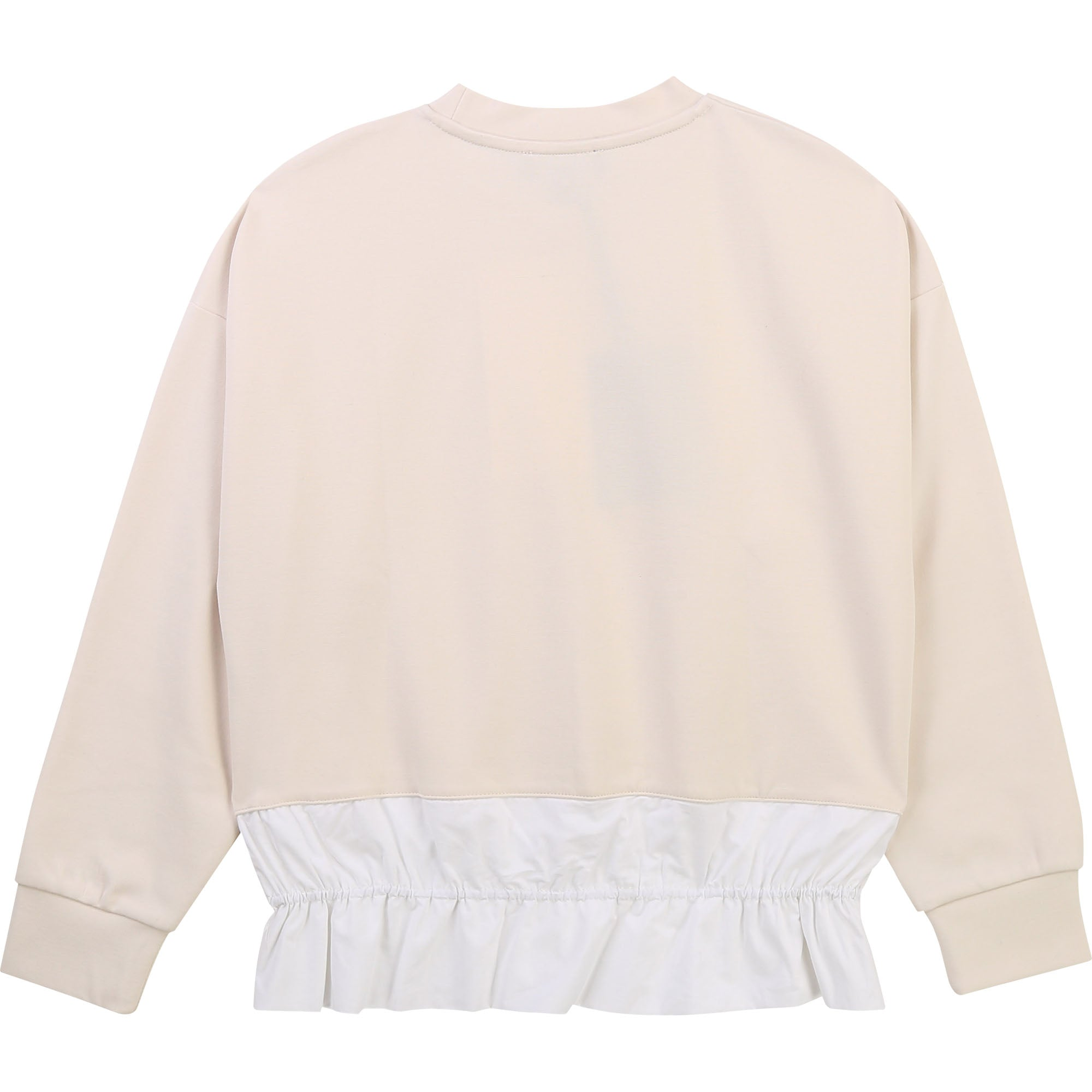 DKNY D35R37 GIRLS  WHITE FANCY SWEATSHIRT