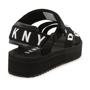 DKNY D39045 GIRLS  BLACK SANDALS