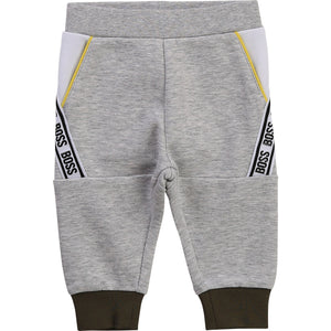 HUGO BOSS J04399 BABY BOY JOGGING BOTTOMS GREY