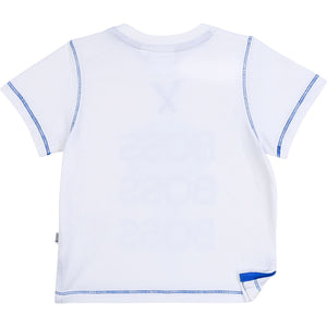 HUGO BOSS J05841 BABY BOY SHORT SLEEVE T-SHIRT WHITE