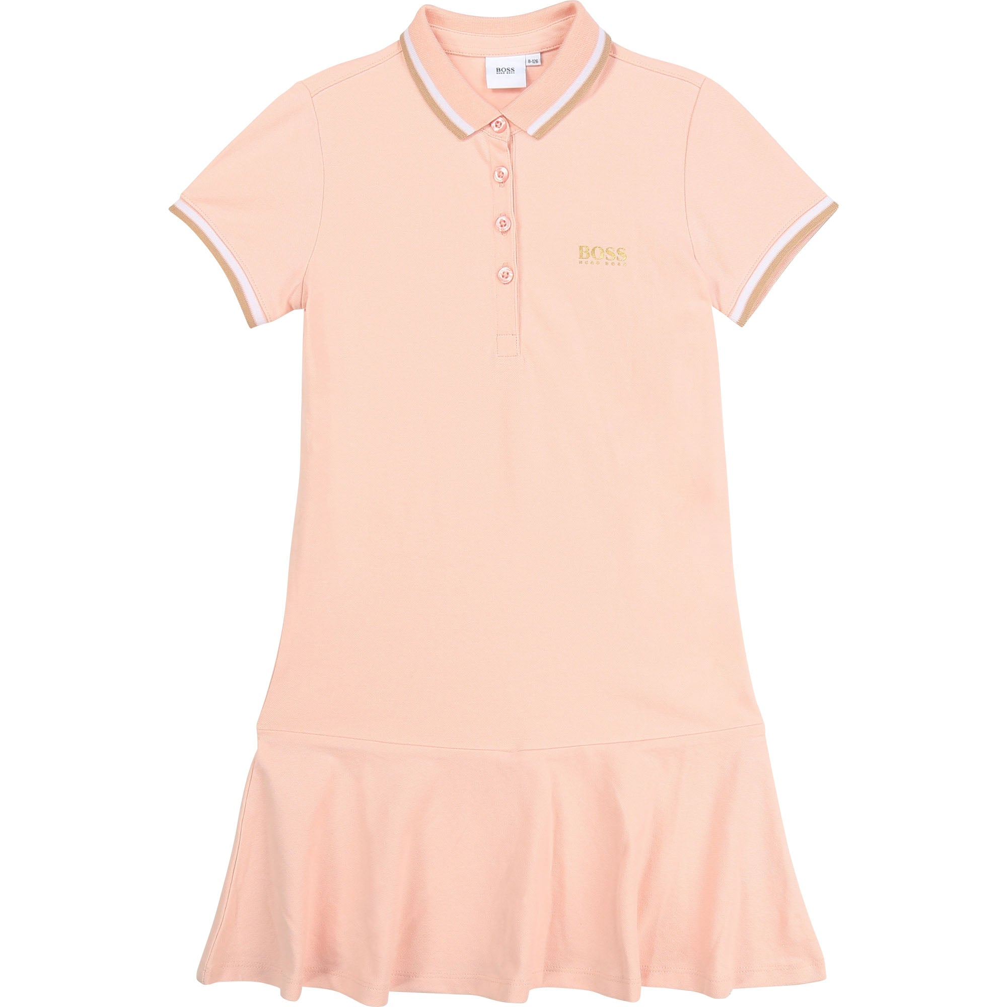 HUGO BOSS J12191 GIRLS DRESS PALE PINK