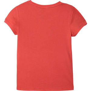 HUGO BOSS J15418 GIRLS SHORT SLEEVES TEE-SHIRT PEACH