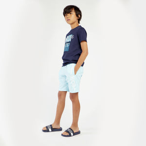 HUGO BOSS J24682 BOYS SWIM SHORTS SEA GREEN