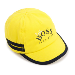 HUGO BOSS J91113 BABY BOY CAP YELLOW