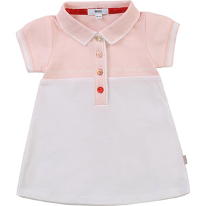 HUGO BOSS J92055 BABY GIRL DRESS PINK