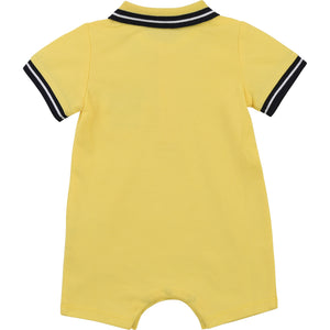 PRE ORDER  HUGO BOSS BABY BOY SHORT ALL IN ONE YELLOW