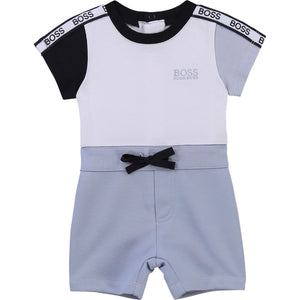 PRE ORDER  HUGO BOSS BABY BOY SHORT ALL IN ONE WHITE